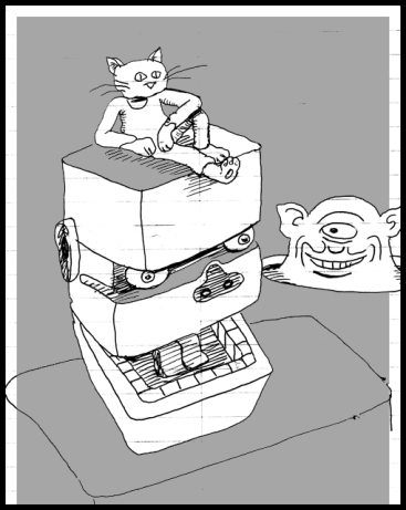 Cat robo perch