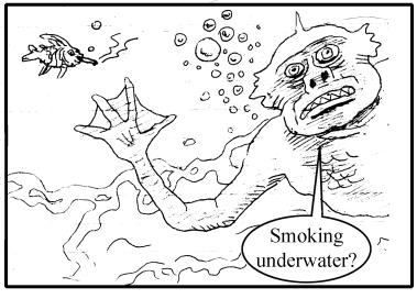 smoking underwater